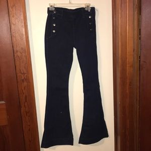 Women's express size 8r bell flair pin up jeans